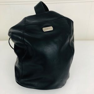 Vintage Espirit Leather Shoulder Backpack Purse